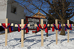 Five crosses representing five victims of a deadly school shooting on the campus of Northern Illinois University in DeKalb, Illinois, on February 15, 2008. Stephen Kazmierczak, 27, opened fire at Cole Hall in the university on February 14, killing five students and wounding 15 others before turning his gun on himself, police said.