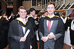 With Compliments,  25/8/2015  Attending the University of Limerick Conferrings were Conor Barry, Raheen who was conferred with a BA in Law and Accounting and Eamonn Carr, Ardnacrusha, who was conferred with a BA in Law and Accounting.<br /> Pic: Gareth Williams / Press 22