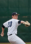 March 30, 2012:   Nevada Wolf Pack starting pitcher Tyler Wells throws against the BYU Cougars during their NCAA baseball game played at Peccole Park on Friday afternoon in Reno, Nevada.