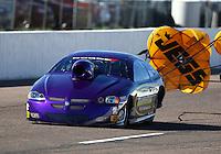 Feb 26, 2016; Chandler, AZ, USA; NHRA top sportsman driver Paul Mitsos during qualifying for the Carquest Nationals at Wild Horse Pass Motorsports Park. Mandatory Credit: Mark J. Rebilas-
