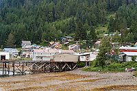 Residential area of the Tlingit village of Hoonah, AK, Alaska, USA