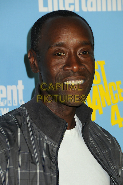 Don Cheadle.Entertainment Weekly's Comic-Con 2012 Celebration held at the Hard Rock Hotel Float Lounge, San Diego, California, USA..July 14th, 2012.headshot portrait white top grey gray check jacket .CAP/ADM/BP.©Byron Purvis/AdMedia/Capital Pictures.