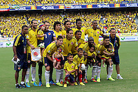 BARRANQUILLA -COLOMBIA- 11 -10-2013. Formacion del equipo de  Colombia contra  Chile ,partido correspondiente para las eliminatorias al mundial de Brasil 2014 disputado en el estadio Metropolitano de Barranquilla   / Colombia team against Chile for the qualifying game for the rorld Cup Brazil 2014 match at the Metropolitano stadium in Barranquilla.Photo: VizzorImage / Felipe Caicedo /  Staff/