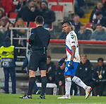 08.11.18 Spartak Moscow v Rangers: Alfredo Morelos booked
