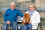 Misty with Michael and Winifred O'Donovan at the blessing of the animals in the Friary on Sunday