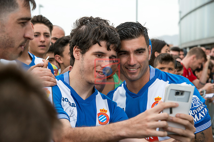 League BBVA 2016/2017.<br /> Jose Antonio Reyes presented as new player of RCD Espanyol.