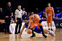 Sharks' Jarrad Weeks in action during the  NBL - Cigna Saints v Southland Sharks at TSB Bank Arena, Wellington, New Zealand on Thursday 25 April 2019. <br /> Photo by Masanori Udagawa. <br /> www.photowellington.photoshelter.com