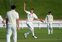 Wellington's Ben Sears appeals during day two of the Plunket Shield cricket match between the Wellington Firebirds and Otago Volts at the Basin Reserve in Wellington, New Zealand on Tuesday, 22 October 2019. Photo: Dave Lintott / lintottphoto.co.nz