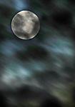 The full moon as seen off the  Embarcadero near the  Bay Bridge in San Francisco, California.