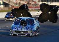 May 16, 2014; Commerce, GA, USA; NHRA pro mod driver Mike Castellana during qualifying for the Southern Nationals at Atlanta Dragway. Mandatory Credit: Mark J. Rebilas-USA TODAY Sports