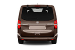 Straight rear view of 2018 Toyota Proace-Verso VIP 5 Door Minivan Rear View  stock images