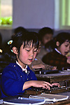 Little Girl Using Abacus
