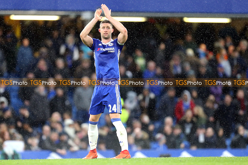 Gary Cahill of Chelsea after Chelsea vs Swansea City, Premier League Football at Stamford Bridge on 25th February 2017