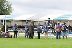 Photographers capturing the action during the dressage phase of the 2012 Land Rover Burghley Horse Trials in Stamford, Lincolnshire