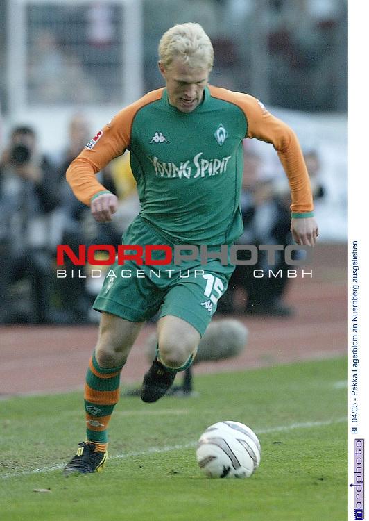 BL 2004/2005 - <br /> <br /> Wie Sportdirektor Klaus Allofs im Trainingslager von Werder Bremen bekannt gab, wird der finnische Nationalspieler Pekka Lagerblom an den 1. FC Nuernberg bis zum Saisonende ausgliehen. <br /> Lagerblom: Es ist gut fuer mich, dass ich jetzt eine bessere Chance zu spielen habe. Die mŲchte ich nutzen, weil ich mich so wieder fuer Werder empfehlen kann.<br /> <br /> Archiv aus : BL 2003/2004 -26. Spieltag<br /> VFB Stuttgart vs Werder Bremen 4:4<br /> <br /> Foto: &copy; nordphoto <br /> <br />  *** Local Caption *** Foto ist honorarpflichtig! zzgl. gesetzl. MwSt.<br />  Belegexemplar erforderlich<br /> Adresse: nordphoto<br /> Georg-Reinke-Strasse 1<br /> 49377 Vechta
