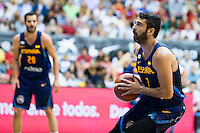 Spain's basketball player Juan Carlos Navarro during the first match of the preparation for the Rio Olympic Game at Coliseum Burgos. July 12, 2016. (ALTERPHOTOS/BorjaB.Hojas)