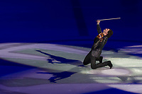 Emmy-award winning violin player-composer musician Edvin Marton of Hungary performs during the Kings on Ice skating show in Budapest, Hungary on April 29, 2018. ATTILA VOLGYI