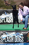 Melinda Pierce and Charity participate in the Splash Dogs dock diving competition at the Pet Wellness and Adoption Festival Saturday, May 28, 2011, in Reno, Nev. .Photo by Cathleen Allison