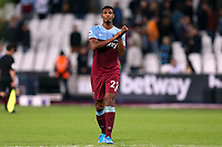 Sebastien Haller of West Ham United applauds the fans after West Ham United vs Crystal Palace, Premier League Football at The London Stadium on 5th October 2019