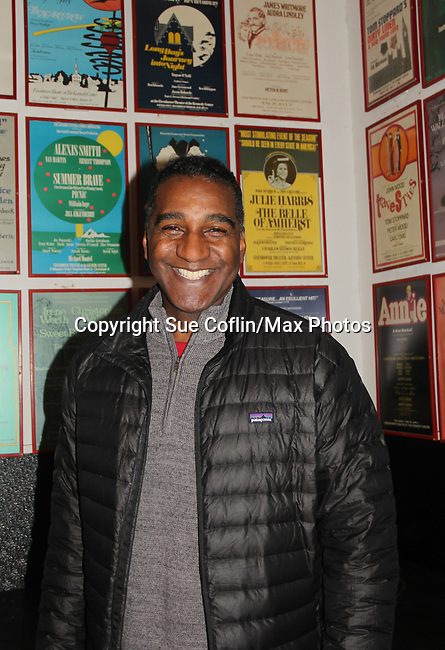 """All My Children's Norm Lewis stars in the musical  The Music Man as """"Harold Hill"""" at the Eisenhower Theater at the  John F. Kennedy Center for the Performing Arts, Washington D.C. in a sold out run and photos were taken on February 10, 2019 in the green room.  (Photo by Sue Coflin/Max Photo)"""