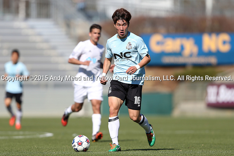 08 March 2015: E-Land's Lee Jae-An (KOR). The Carolina RailHawks of the North American Soccer League played Seoul E-Land FC of the K-League Challenge at WakeMed Stadium in Cary, North Carolina in a 2015 preseason friendly for both clubs. The game ended in a 0-0 tie. Afterwards, Seoul E-Land won a penalty kick shootout 5-4.