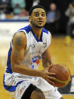 Corey Webster in action during the national basketball league final between Wellington Saints and Bay Hawks at TSB Bank Arena, Wellington, New Zealand on Saturday, 5 July 2014. Photo: Dave Lintott / lintottphoto.co.nz