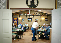 Customers move about at the Coffee Station in Crawford, Texas, US, Wednesday, April 14, 2010. President Bush is known to stop at the coffee shop with staff and visitors...PHOTO/ MATT NAGER