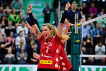 14.01.2018, Halle Berg Fidel, Muenster<br />Volleyball, Bundesliga Frauen, Normalrunde, USC Münsterr / Muenster vs. Dresdner SC<br /><br />Jubel Mareen Apitz (#2 Dresden)<br /><br />  Foto © nordphoto / Kurth