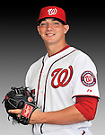 25 February 2011: Cole Kimball poses for his Washington Nationals Photo Day portrait at Space Coast Stadium in Viera, Florida. Mandatory Credit: Ed Wolfstein Photo