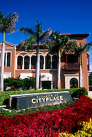 The exterior of the Palladium building at the Cityplace Shopping Center. Palm Beach, Florida