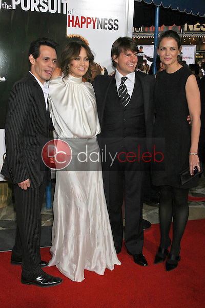 Marc Anthony and Jennifer Lopez with Tom Cruise and Katie Holmes<br />