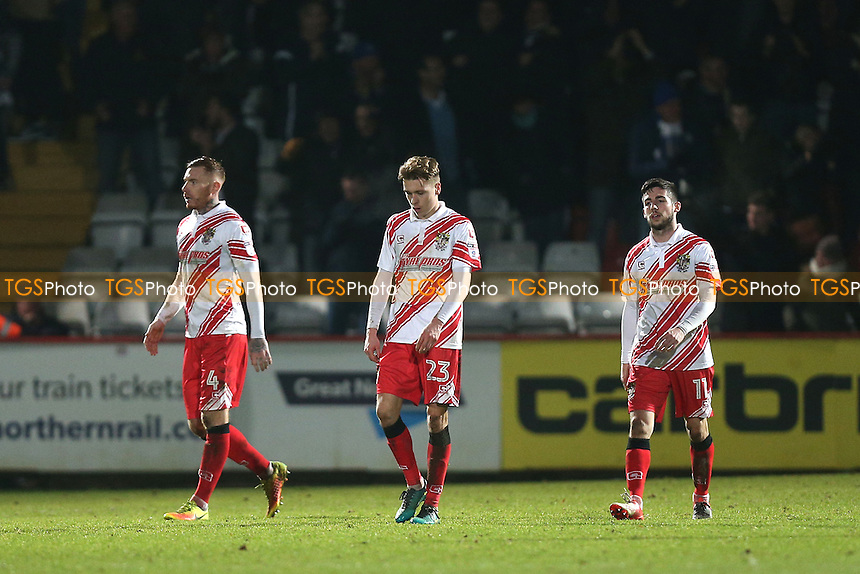 Despair for Stevenage as they fall 2-3 behind during Stevenage vs Colchester United, Sky Bet EFL League 2 Football at the Lamex Stadium on 31st December 2016