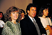 Elizabeth Glaser, left, wife of actor and director Paul Michael Glaser, right, waits to give testimony during a pediatric AIDS hearing before the United States House Budget Committee's Task Force on Human Resources on Capitol Hill in Washington, DC, March 13, 1990. Elizabeth Glaser contracted the AIDS virus after receiving an HIV-contaminated blood transfusion in 1981 while giving birth, subsequently infecting both of her children. One of their children, daughter Ariel, died in 1988 of the disease.  Mrs. Glaser passed away from the disease on December 3, 1994.   <br /> Credit: Howard Sachs / CNP