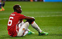 BRUSSELS , BELGIUM - APRIL 13 :  Paul Pogba disappointed pictured during UEFA Europa League quarter final first leg match between Rsc Anderlecht and Manchester United in Brussels, Belgium 13/04/2017. <br /> <br /> Bruxelles 13-04-2016 <br /> Anderlecht - Manchester United Europa League <br /> Foto Panoramic / Insidefoto <br /> ITALY ONLY