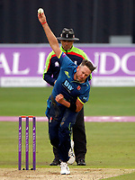 Mitchell Claydon bowls for Kent during the Royal London One Day Cup game between Kent and Somerset at the St Lawrence Ground, Canterbury, on May 29, 2018