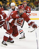 Danny Biega (Harvard - 9) - The Northeastern University Huskies defeated the Harvard University Crimson 4-0 in their Beanpot opener on Monday, February 7, 2011, at TD Garden in Boston, Massachusetts.