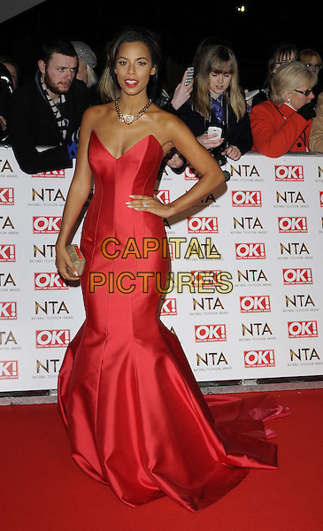LONDON, ENGLAND - JANUARY 21: Rochelle Humes attends the National TV Awards 2015, The O2 Arena, Millennium Way, Peninsula Square, Greenwich, on Wednesday January 21, 2015 in London, England, UK. <br /> CAP/CAN<br /> &copy;Can Nguyen/Capital Pictures