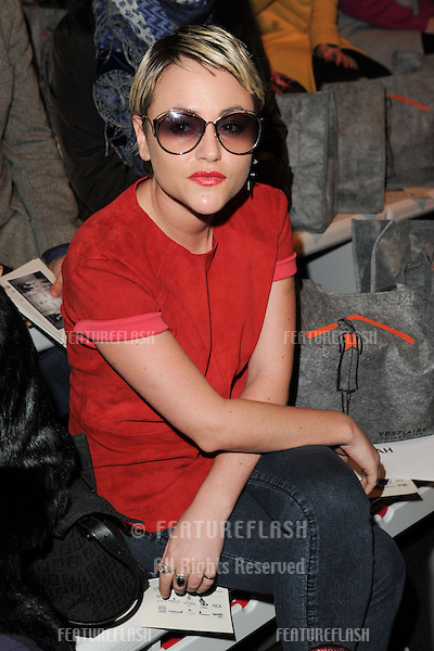 Jaime Winstone at the Zoe Jordan catwalk show as part of London Fashion Week AW13, Somerset House, London. 15/02/2013 Picture by: Steve Vas / Featureflash