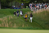 Shane Lowry (IRL) and Louis Oosthuizen (RSA) walking off  the 14th tee during the final round at the PGA Championship 2019, Beth Page Black, New York, USA. 20/05/2019.<br /> Picture Fran Caffrey / Golffile.ie<br /> <br /> All photo usage must carry mandatory copyright credit (© Golffile | Fran Caffrey)