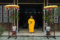 Monks at Thien Minh Monastery