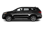 Car driver side profile view of a 2019 Hyundai Santa FE XL Limited Ultimate 5 Door SUV