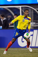 Ecuador midfielder Luis Antonio Valencia (16). Argentina and Ecuador played to a 0-0 tie during an international friendly at MetLife Stadium in East Rutherford, NJ, on November 15, 2013.