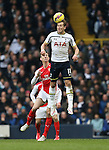 Tottenham's Harry Kane tussles with Arsenal's Laurent Koscielny<br /> <br /> Barclays Premier League- Tottenham Hotspurs vs Arsenal  - White Hart Lane - England - 7th February 2015 - Picture David Klein/Sportimage