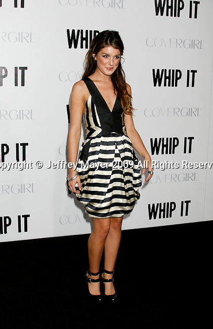 """HOLLYWOOD, CA. - September 29: Shenae Grimes arrives at the Los Angeles premiere of """"Whip It"""" at the Grauman's Chinese Theatre on September 29, 2009 in Hollywood, California."""