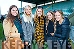 Brid Kissane, Tara Casey, Zoe O'Sullivan, Amy O'Shea and Leah O'Shea Dr Crokes Supporters pictured after the County final at Austin Stack Park on Sunday.
