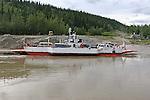 Dawson City, The Yukon Territory, Canada, On the Yukon River, Ferry crossing the Yukon River