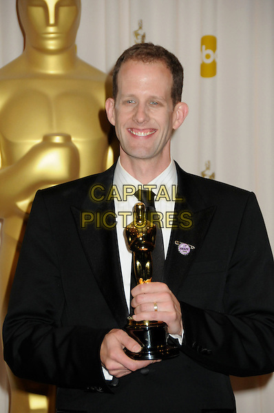 PETE DOCTER.82nd Annual Academy Awards held at the Kodak Theatre, Hollywood, California, USA..March 7th, 2010.oscars half length black suit jacket award trophy winner .CAP/ADM/BP.©Byron Purvis/AdMedia/Capital Pictures.