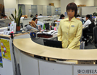 The SAYA humanoid acts a secretary at Tokyo University of Science. The humanoid, which can talk and has unlimited facial expressions is being introduced as a teacher for primary school children..