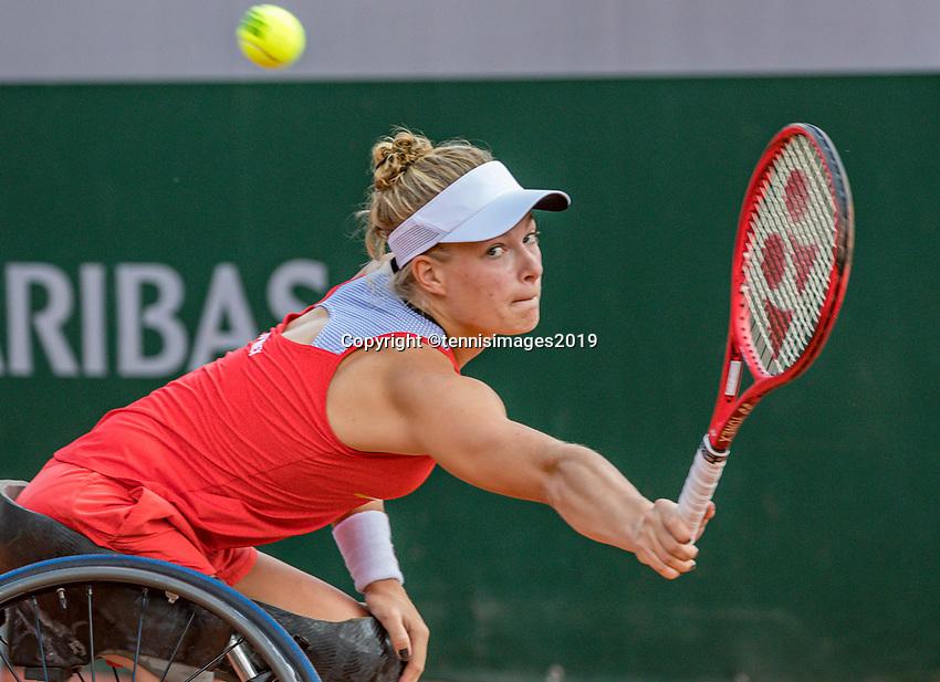 Paris, France, 6 june, 2019, Tennis, French Open, Roland Garros, Wheelchair womans singles: Dide de Groot (NED)<br /> Photo: Henk Koster/tennisimages.com