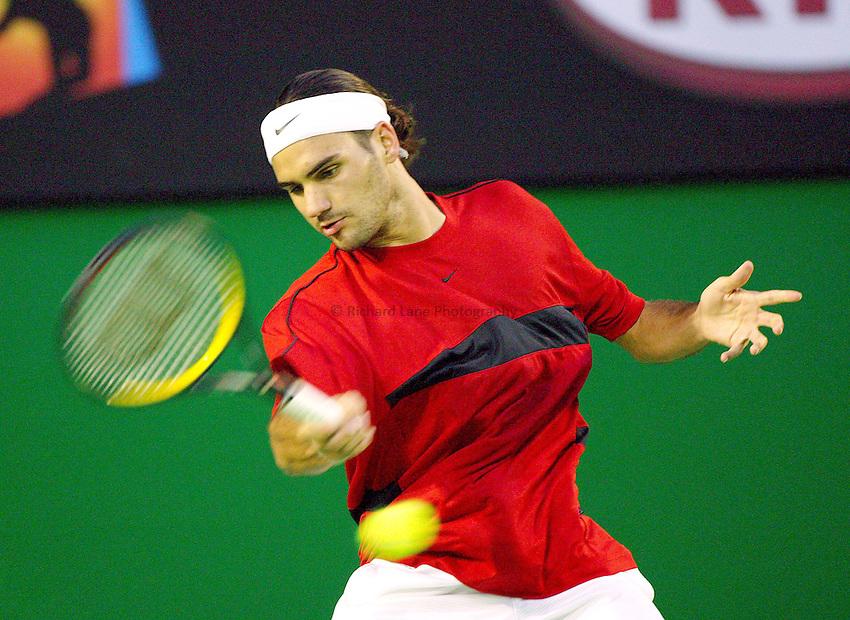 Roger Federer, Men's Final. Australian Tennis Open 2004, Melbourne, Australia